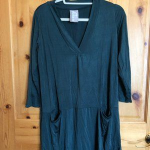 DOLAN Left Coast Collection, Green Cupro Dress, S